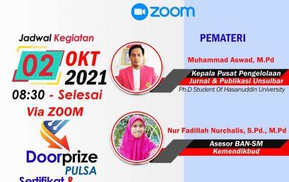 Sosialisasi Program Kreatifitas Mahasiswa (PKM) Universitas Sulawesi Barat, Sabtu 03 Oktober 2021